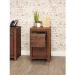 Cordoba Solid Walnut Two Drawer Filing Cabinet