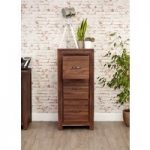 Cordoba Solid Walnut Three Drawer Filing Cabinet