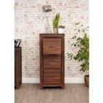 Cordoba Solid Walnut Three Drawer Filing Cabinet