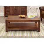 Cordoba Solid Walnut Coffee Table with Shelf