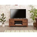 Cordoba Solid Walnut Low Widescreen TV Cabinet