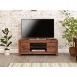 Cordoba Solid Walnut Low Widescreen TV Cabinet