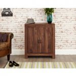 Cordoba Solid Walnut Large Shoe Cupboard