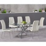 Denver 160cm Glass Dining Table with Calgary Chairs