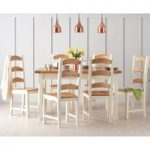 Eton 130cm Solid Pine and Ash Kitchen Table with Eton Chairs