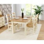 Eton 150cm Solid Pine and Ash Kitchen Table with Eton Chairs