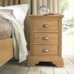 Heronford Oak 3 Drawer Bedside Cabinet