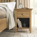 Heronford Oak 1 Drawer Bedside Cabinet