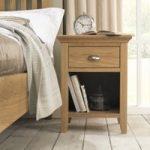 Heronford Oak 1 Drawer Bedside Cabinet