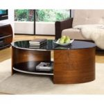 Corsair Walnut Oval Coffee Table