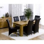 Ex-display Kentucky 180cm Oak Dining Table with 4 GREY Kentucky Chairs