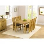 Lille 150cm Dining Table and Chairs with Interchangeable Black and Brown Seats