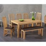 Lille Dining Table with Chairs and Bench