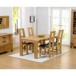 Lisbon 150cm Solid Oak Dining Table with Louis Chairs