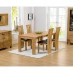Lisbon 150cm Solid Oak Dining Table with Montreal Chairs