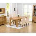 Lisbon 150cm Solid Oak Dining Table with Cannes Chairs