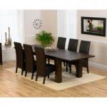 Madrid 200cm Dark Solid Oak Extending Dining Table with Dakota Chairs