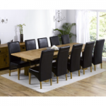 Madrid 200cm Solid Oak Extending Dining Table with Venezia Chairs