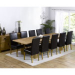 Madrid 200cm Solid Oak Extending Dining Table with Normandy Chairs