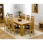 Madrid 200cm Solid Oak Extending Dining Table with Monaco Chairs