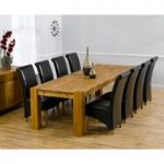 Madrid 300cm Solid Oak Dining Table with Kentucky Chairs