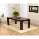 Ex-Display Madrid 200cm Dark Solid Oak Dining Table