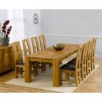 Madrid 240cm Solid Oak Dining Table with Louis Chairs