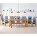 Madrid 200cm Solid Oak Extending Dining Table With Bench And Cannes Chairs