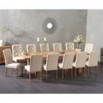 Madrid 200cm Extending Solid Oak Dining Table with Claudia Fabric Chairs