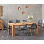 Madrid 200cm Oak Dining Table with Celine Chrome Leg Chairs