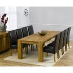 Madrid 240cm Solid Oak Extending Dining Table with Normandy Chairs