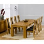 Madrid 240cm Solid Oak Extending Dining Table with Toronto Chairs