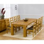 Madrid 240cm Solid Oak Dining Table with Vermont Chairs