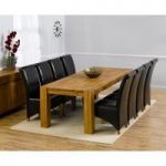 Madrid 240cm Solid Oak Extending Dining Table with Kentucky Chairs