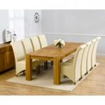 Madrid 240cm Solid Oak Dining Table with Kentucky Chairs