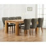 Madrid 200cm Solid Oak Dining Table with Knightsbridge Chairs