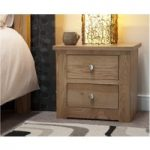 Messina Oak Two Drawer Bedside Chest