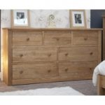 Messina Oak 7 Drawer Wide Chest