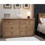 Messina Oak 7 Drawer Chest