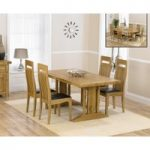 Cavendish 165cm Oak All Sides Extending Table with Monaco Chairs