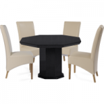 Napoli Octagonal Marble-Effect Dining Table with Cannes Chairs