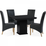 Napoli Square Marble-Effect Dining Table with Cannes Chairs