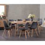 Nordic 180cm Oak Dining Table with Duke Faux Leather Chairs