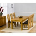 Normandy 180cm Solid Oak Extending Dining Table with Montreal Chairs