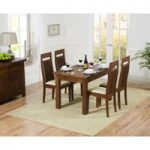 Normandy 120cm Dark Solid Oak Extending Dining Table with Monaco Chairs