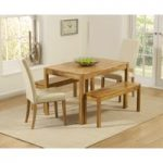 Oxford 120cm Solid Oak Dining Table with Benches and Albany Chairs