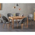 Oxford 120cm Solid Oak Dining Table with Halifax Faux Leather Chairs