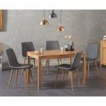 Oxford 120cm Solid Oak Table with Helsinki Faux Leather Chairs