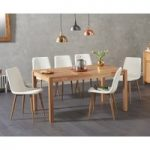 Oxford 150cm Solid Oak Dining Table with Helsinki Faux Leather Chairs