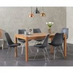 Oxford 150cm Solid Oak Dining Table with Celine Chrome Leg Chairs